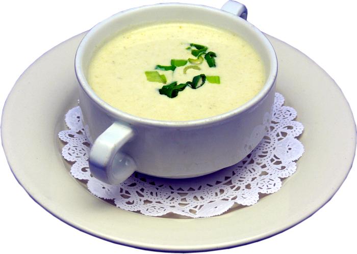 Chilled Sorrel, Potato, And Leek Soup Recipe — Dishmaps